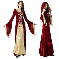 Medieval Renaissance Celtic Queen Gown RPG Cosplay Fancy Dress Costume