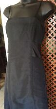 black satin effect pannelled dress by Mexx. 8