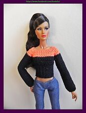 Sweater for FR2 / Poppy Parker / Barbie / Tiny Kitty Collier dolls