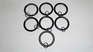 "Restoration Hardware New Drapery Rings  (7)  Large  Bronze Double Loop 1 3/4"""