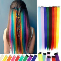 Long Straight Hair Clip in One Piece Hair Extension Synthetic Hair Strand r