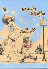 Ex-libris Sérigraphie Pin-Up Séverin, 10 années de Bulles