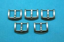 Matte Silver Buckle For Leather Watch Band 5 - 25Pcs 18mm 20mm 22mm Stainless
