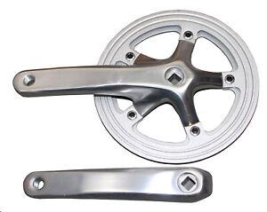 Alu 4-kant Kurbel 1-fach Kettenradgarnitur 44T 170mm Ketteschutzring