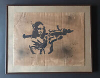 Banksy Dismaland Original Spray On Cardboard Graffiti With Stencil - Mona Lisa