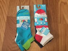 6-Pairs Fruit of the Loom Breathable No Show Socks Size 4-10