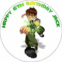 BEN 10 BIRTHDAY CAKE EDIBLE ROUND BIRTHDAY CAKE TOPPER DECORATION