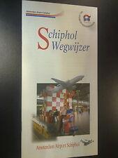 Flyer Schiphol Wegwijzer, Amsterdam Airport Schiphol