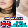 Lace Choker Necklace Vintage Classic Retro Gothic Black and White Lace Choker
