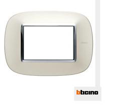 BTICINO HB4803SAN PLACCA ELLITTICA 3 MODULI COLOR ARGENTO