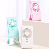 KQ_ KE_ DI- Portable USB Lazy Fan Mini Cooling Sports Rest Fan with Stand Makeup