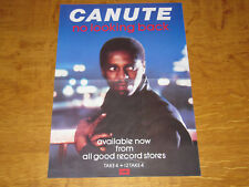 CANUTE - NO LOOKING BACK - 1985 UK PROMO POSTER