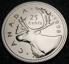 "RCM - 1998 - 25-cent - Caribou - Proof Like - Uncirculated ( no ""w"" )"