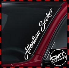 Attention Seeker Car / Van Windscreen Decal Sticker euro JDM -17 Colours 550mm