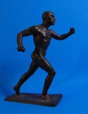 """RUDOLF KAESBACH (1873-1955) - RUNNER - BRONZE STATUE - 8-3/4"""" TALL - ART DECO"""