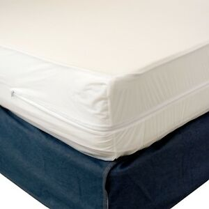 Waterproof Zippered Vinyl Mattress Cover Allergy Relief Bed Bug Hypoallergenic