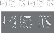 Wanddekor, Wandschablone, Schablone, Malerschablone - ägyptische Hieroglyphen 1