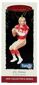 San Francisco 49ers Quarterback Joe Montana Hallmark NFL 1995 Football Ornament
