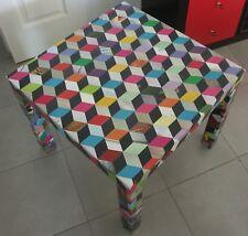 Collage rétro vintage Table basse 55x55x45 cm