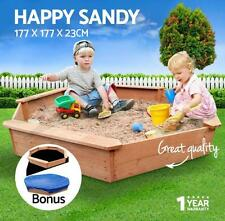 Firwood Wooden Play Set Octagonal Kids Outdoor Sand Pit Boat Sand Box Toy