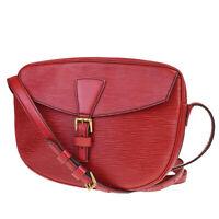 Authentic LOUIS VUITTON Jeune Fille Shoulder Bag Epi Leather Red M52157 31MB245