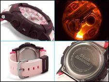 New Casio G-Shock Digital Analog BGA-180-4B4 Pink/Burgundy Baby-G Ladies