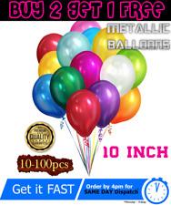 10-100 Metallic BALLOONS Helium Air Birthday Party Wedding Baby Shower