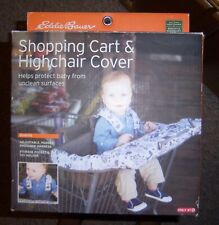 Eddie Bauer Unixex Baby or Toddler Shopping Cart & Highchair Cover New in Box