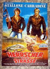 HERRSCHER DER STRASSE * Stallone, Carradine - A1-FILMPOSTER WA Ger 1-Shee DILL