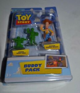 2008 DISNEY PIXAR TOY STORY BUDDY PACK GREEN ARMY MEN & ACTION SHERIFF WOODY