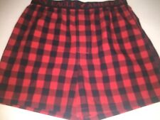 NEW AMERICAN EAGLE RED NAVY BLUE PLAID WITH FLY COTTON BOXER MEN SIZE SMALL NICE