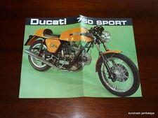 Ducati 750 Sport Brochure NOS bevel twin