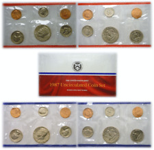 1987 10 Coin P&D United States Mint Uncirculated Set OGP W/COA