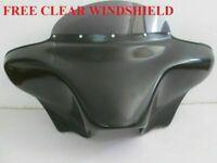 "HONDA VTX BATWING FAIRING WINDSHIELD C R S 1800 1300 BAGGER 4x5"" SPKS HOLES F3GC"