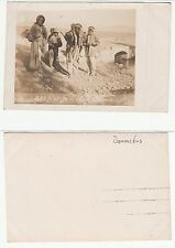 Syrien Syria,Damaskus Damas Ethnic Arab type in Beduin village  RPPC WWI um 1918