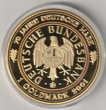 1 Goldmark 2001   70 mm 110 g Medaille Cu vergoldet Gigantprägung  PP  (14)