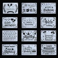 dekorative paintingtemplate scrapbooking schichtung schablonen happy birthday