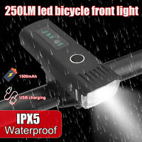 Rechargeable LED Bike Bicycle Light USB Waterproof Cycling Front Lamp Headlight