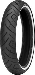 Shinko 87-4607 Tire 777 Cruiser Front Tire 130/60B19 67H Belted Bias Whitewall