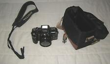 OLYMPIA MOTOR DRIVE DL-9000 50 MM CAMERA TOP VIEW SCREEN & STRAP & CARRYING CASE