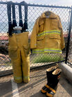 Los Angeles City Lion Apparel firefighter turnout bunker pants LAFD county 34 29