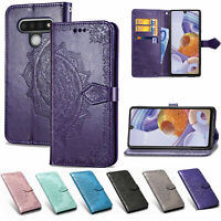 For LG Stylo 6 Velvet 5G Magnetic Pattern Leather Case Card Wallet Flip Cover