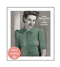 1940s Wartime Pretty Blouse Knitting Pattern - Copy