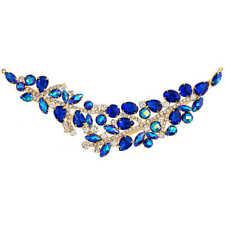 Crystal Applique Motif - Elegant Chic Large Blue Ab Gold