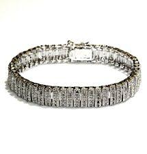 "925 Sterling Silver 2.04ct diamond tennis bracelet 28.4g  7"" ladies"