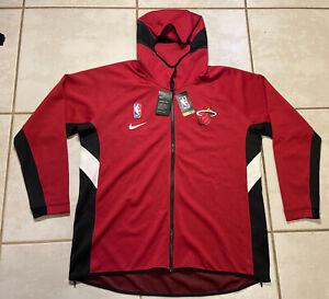 NWT NIKE THERMA FLEX Miami Heat NBA Hoodie Jacket  Men's Large TALL AV0817-608