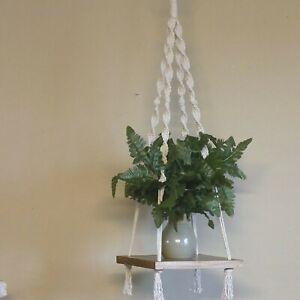 Macramé Plant Hanging Shelf, Bohemian Nursery Décor