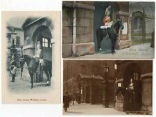 3 Early  HORSE GUARDS  Whitehall London  Military  Postcards