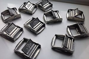 25mm Metal Cam Flap Buckles For Webbing  (250kg) x2 x5 x10 x50