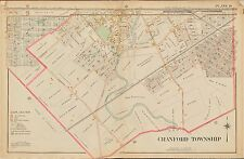 1906 CRANFORD TOWNSHIP UNION COUNTY, NEW JERSEY SHERMAN SCHOOL ATLAS MAP